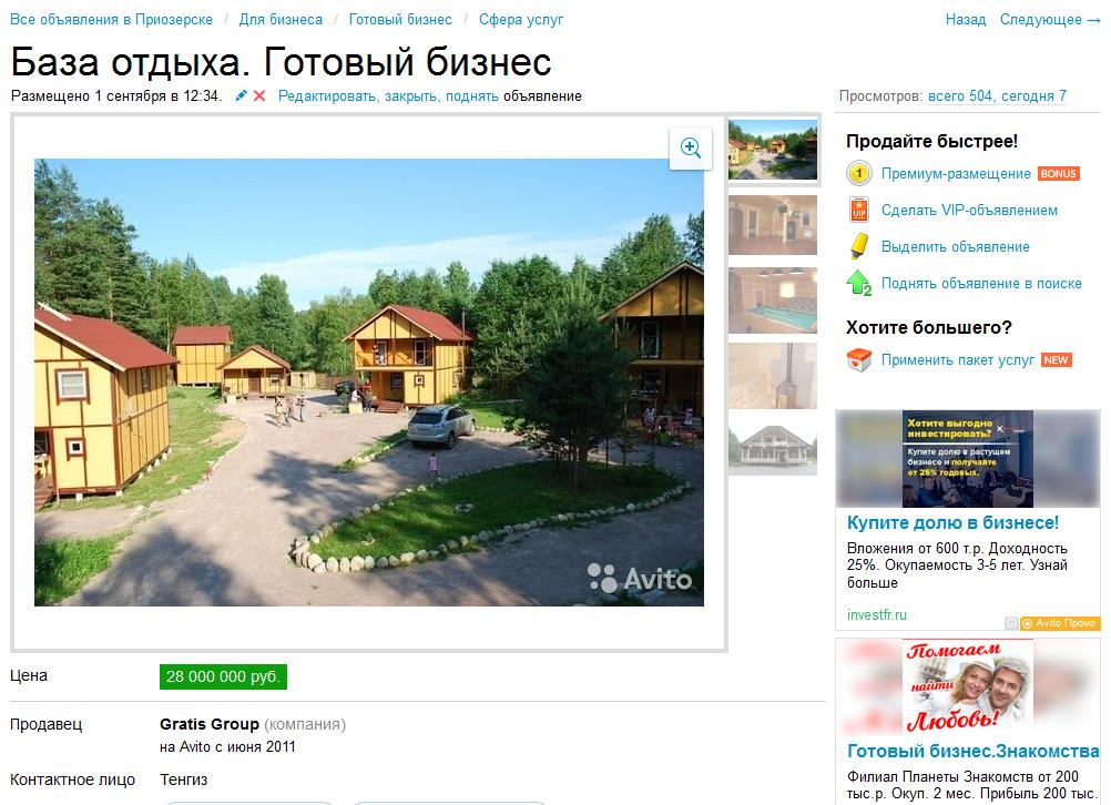 Biz-bank.ru продажа бизнеса частные объявления недвижимость спб и пригороды